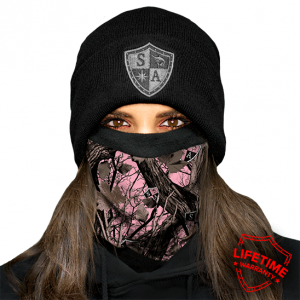 FROST TECH PINK FOREST CAMO FLEECE LINED FACE SHIELD