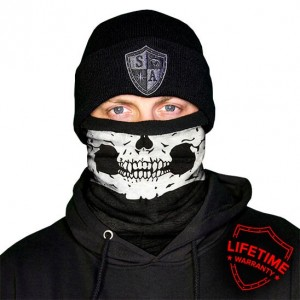 FROST TECH HALF SKULL FLEECE LINED FACE SHIELD