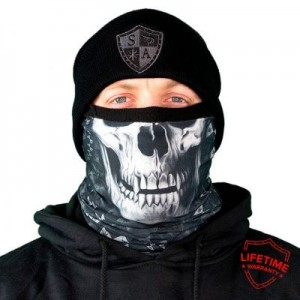 FROST TECH™ | STEALTHTECH™ | RAVEN SKULL FLEECE LINED FACE SHIELD