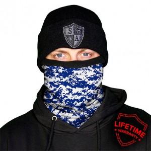 Frost Tech | Blue & White Digi Fleece Lined Face Shield