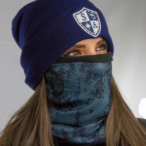 FROST TECH | BLUE DIGI FLEECE LINED FACE SHIELD