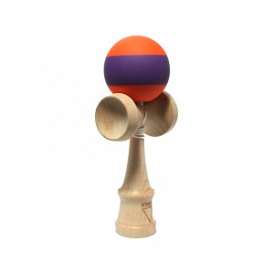 KROM KENDAMA RUBBER STRIPE ORANGE W PURPLE