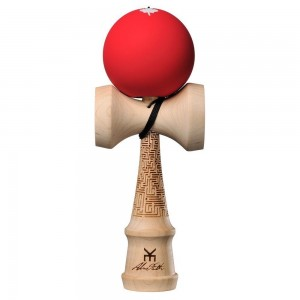 KENDAMA USA PRO MODEL KAIZEN ALEX SMITH - V4 - RED MAZE