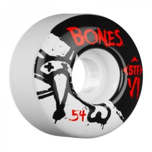 Set 4 roti skateboard Bones STF V1 Series 50mm