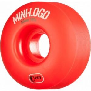 SET 4 ROTI MINI LOGO 53MMx101 RED