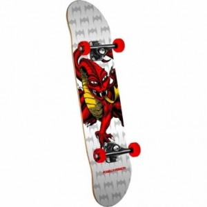 SKATE COMPLETE CAB DRAGON WHITE RED