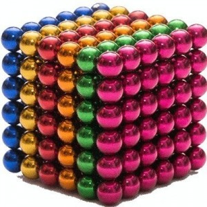NEOCUBE MIXED 216 SFERE MAGNETICE COLORATE 5MM