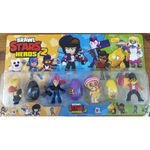 SET 4 FIGURINE BRAWL STARS HEROS